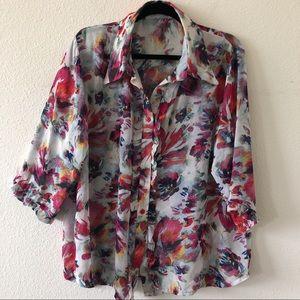 Flowy flower shirt